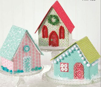Glitter Village House Church and Cottage Patterns by Atkinson Designs