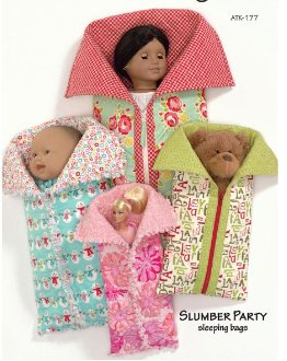 Slumber Party Sleeping Bag Pattern for Dolls by Atkinson Designs