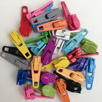 Zipper Pulls - Candy Color Mix by Atkinson Designs
