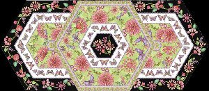 Triangle Frenzy Table Runner Pattern by Artistically Engineered Designs