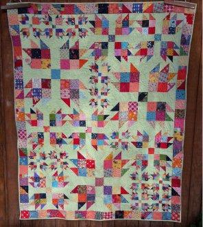 Bear Scraps Quilt Pattern by Aunt Em's Quilts