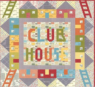 Club House Quilt Pattern by Aunt Em's Quilts