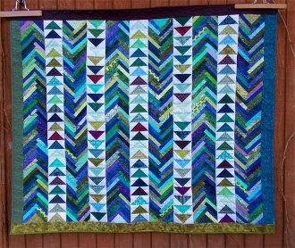 Geese on the Lake Quilt Pattern by Aunt Em's Quilts