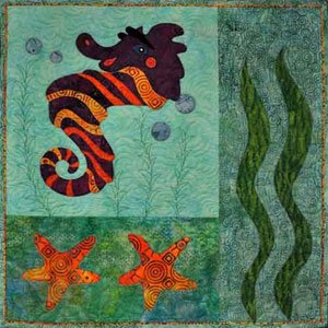 Whispers Fusible Applique Fish Wallhanging Pattern by Quilting Among Friends