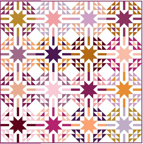 Aglow Quilt Pattern in 3 Sizes by Modernly Morgan