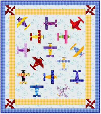 Air Show Pillow Sham and Quilt Pattern in 2 Sizes by ByAnnie