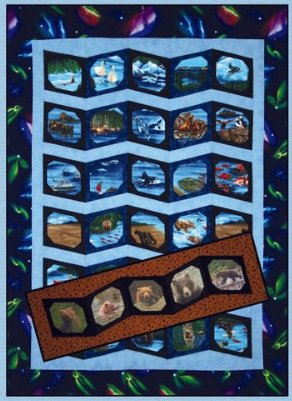 Alaska Photo Album Quilt and Tablerunner Pattern by Quilts With A Twist