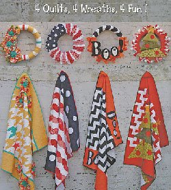 Just For Fun Set of 4 Quilt and Matching Wreath Pattern Book by Abbey Lane Quilts