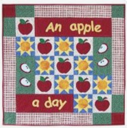 An Apple a Day Wallhanging Pattern by Happy Apple Quilts