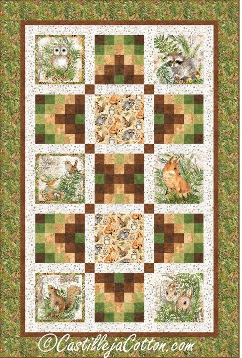 Animals and Ferns Epattern by Castilleja Cotton