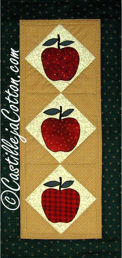 Apple Table Runner Epattern by Castilleja Cotton