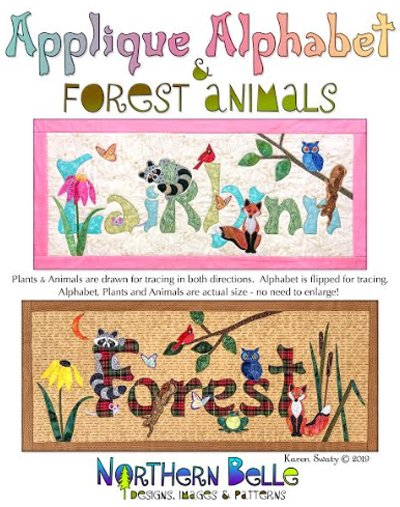 Applique Alphabet and Forest Animals Wallhanging Pattern by Northern Belle