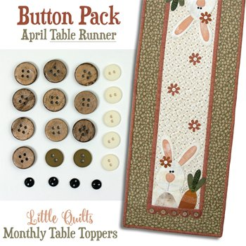 April Carrot Tops Button Pack for the Tablerunner by The Wooden Bear
