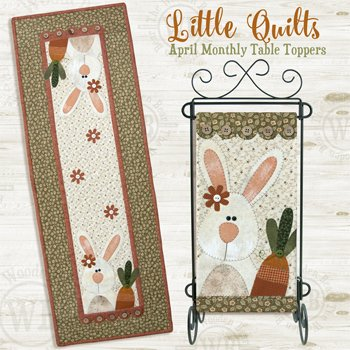 April Carrot Tops Wallhanging and Tablerunner Pattern by The Wooden Bear