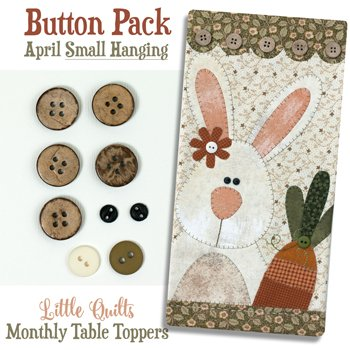 April Carrot Tops Button Pack for the Small Wallhanging by The Wooden Bear