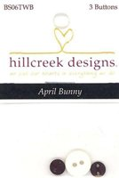 April Bunny Set of 3 Buttons by Hillcreek Designs