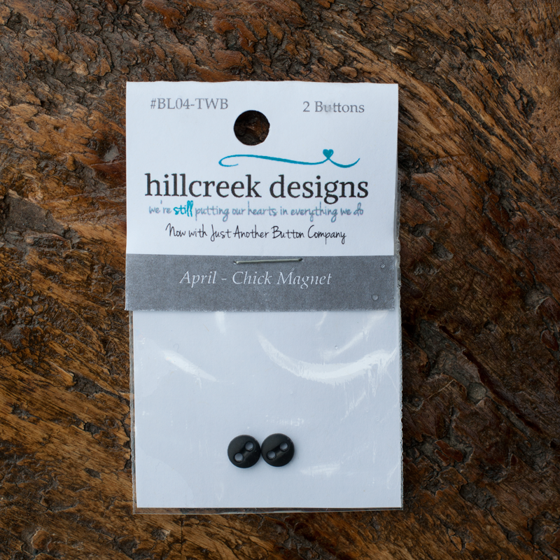 April Chick Magnet Button Set of 2 by Hillcreek Designs