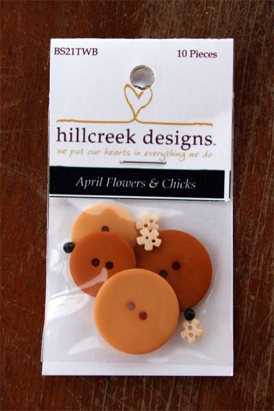 April Flowers and Chicks Button Pack 15pc by Hill Creek Buttons