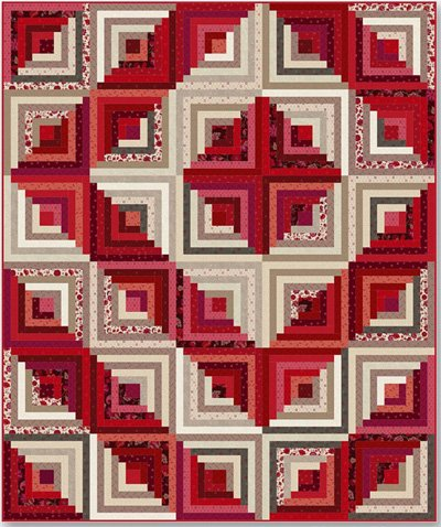 Around the Cabin Quilt Pattern in 3 Sizes by Nancy Rink Designs