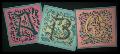 Art Nouveau Alphabet Pattern by Another by Anita