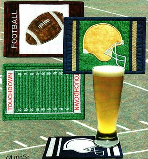 Football Mug Rug Pattern by Amelie Scott Designss