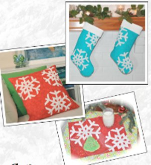 Let It Snow Pillow Pattern and Christmas Stocking Pattern by Amelie Scott Designss