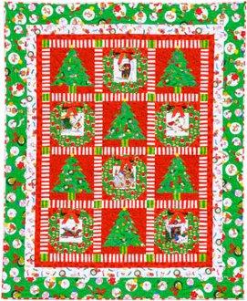 Santy Clause Wreaths Quilt Pattern by Amelie Scott Designss