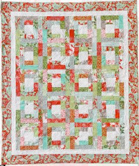 A Walk Around The Square Quilt Pattern by Amelie Scott Designss