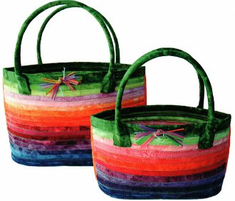 Cat's Eye Baskets Pattern in 2 Sizes by Aunties Two