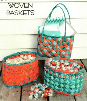 Diagonally Woven Baskets Pattern by Aunties Two