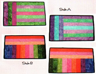 Double Dip Reversible Place Mat Pattern by Aunties Two