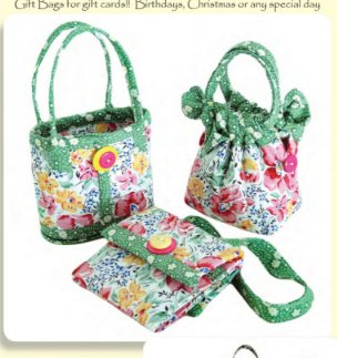 Mini Bags Set of 3 Bag Patterns by Aunties Two
