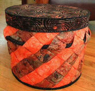Slanted Storage Basket Pattern by Aunties Two