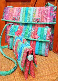 Soft Pockets Bag Pattern by Aunties Two