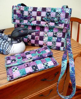 Woven Cross Body Bag and Wallet Pattern by Aunties Two
