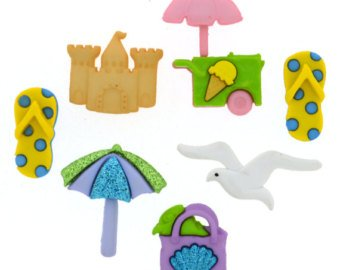 At The Beach Button Pack 6ct by Dress It Up