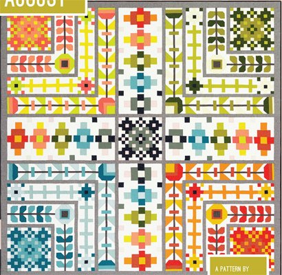 August Patchwork Sampler Quilt Pattern by Elizabeth Hartman