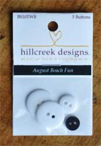 August Beach Fun Button Pack 5pc by Hill Creek Designs