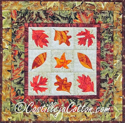 Autumn Foliage Quilt Epattern by Castilleja Cotton