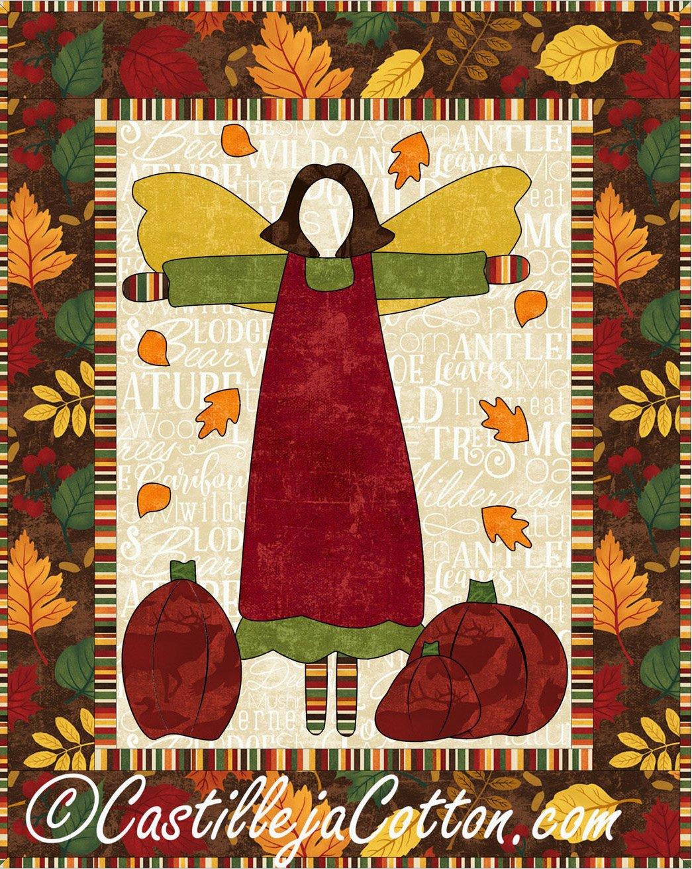 Autumn Guardian Angel Quilt Epattern by Castilleja Cotton