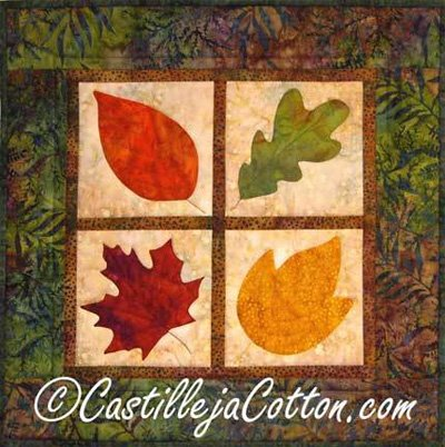 Autumn Leaves Quilt EPattern by Castilleja Cotton