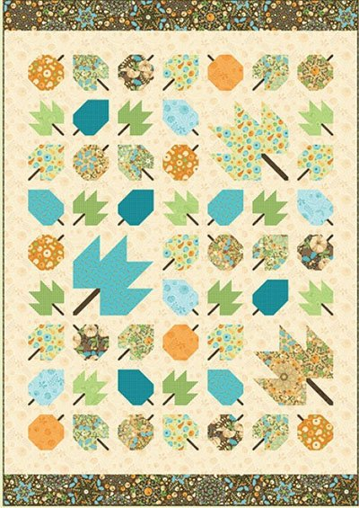 Autumn Leaves Quilt Pattern by Amanda Murphy Designs