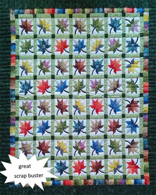 Autumn Splendor Quilt Pattern in 4 Sizes by Rachels of Greenfield