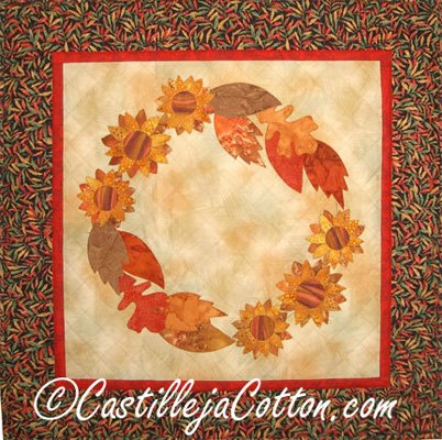Autumn Wreath Quilt Epattern by Castilleja Cotton