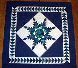 Feathered Star Table Topper or Wall Hanging Pattern by A Very Special Collection