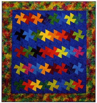 Twister Parade Quilt Pattern by Amy's Wagon Wheel Creations