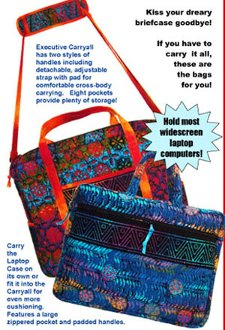 Executive Carryalls Laptop Computer Bags Pattern by ByAnnie