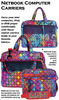 Netbook Computer Carrier Bag Pattern in 2 Sizes by ByAnnie
