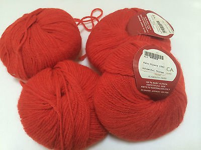 Baby Alpaca Yarn by Plymouth Color 1383 Red