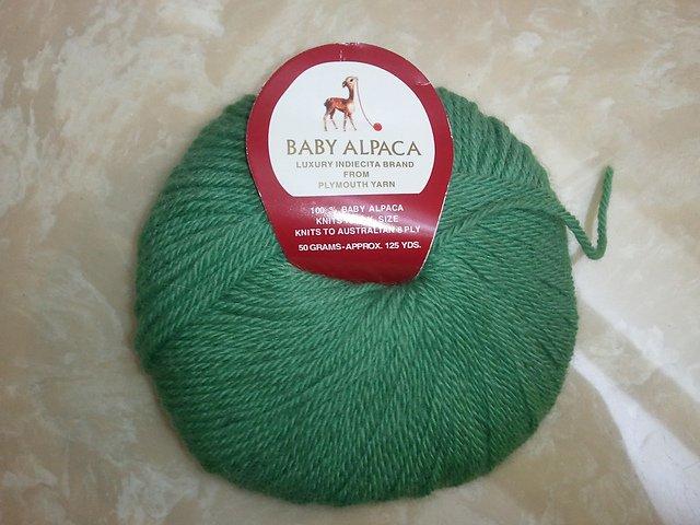 Baby Alpaca Yarn by Plymouth Color 2119 Green